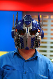 optimus prime helmet with voice changer