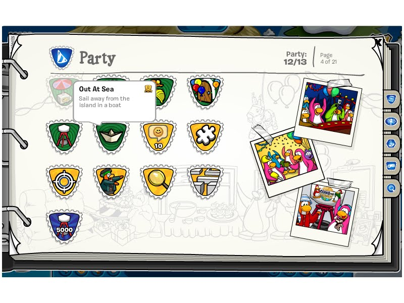 King blue10 39 s club penguin school the wilderness Which side does a stamp go on