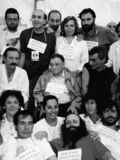 Benedetti con docentes, 1997