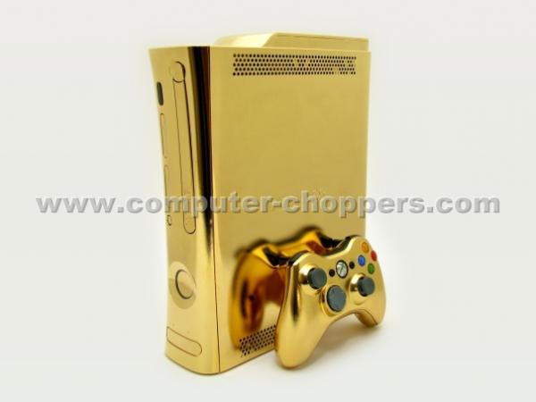 my funny computerchoppers xbox 360 with 24karat gold