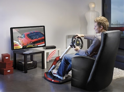 the Ferrari Wireless GT Cockpit 430 Scuderia Edition from peripheral specialists Thrustmaster