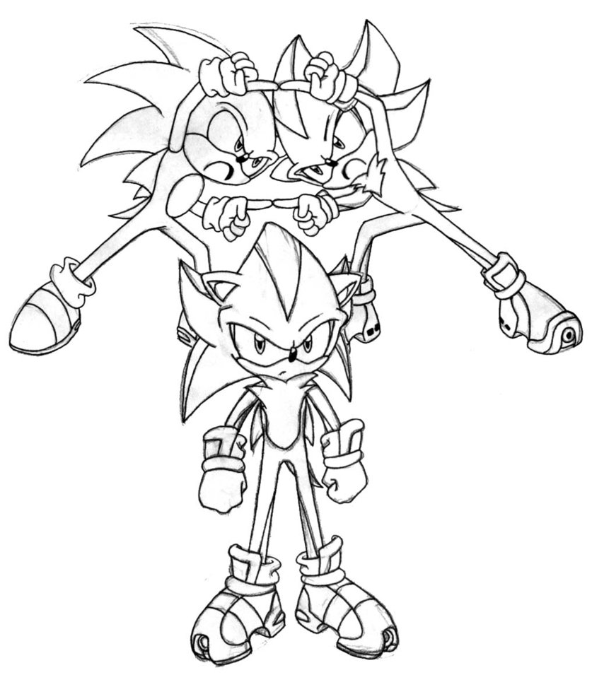 sonic satam coloring pages - photo#24