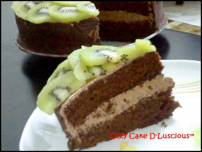 Awards Chocolate Cake Kiwifruit