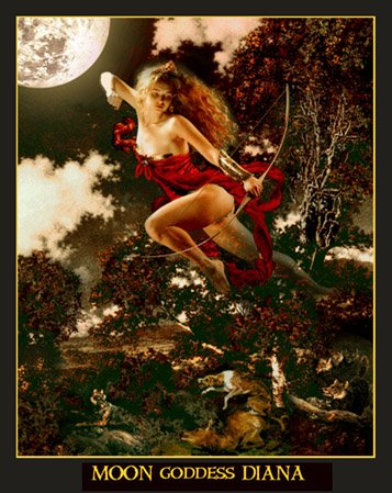 Moon Godess  Diana the hunter