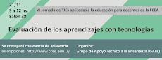 Afiche VI Jornada de TICs aplicadas a la educación para docentes de la FCEA