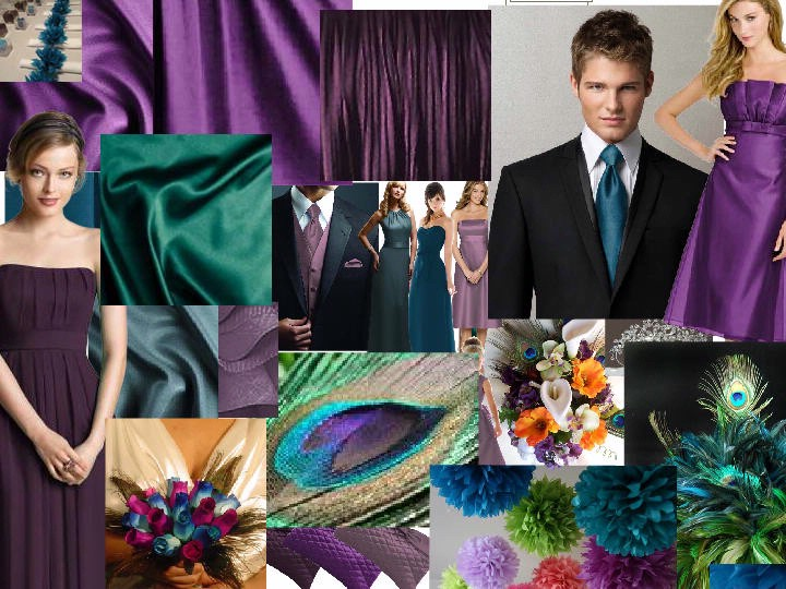 with the peacock wedding theme idea I love all the colors teal