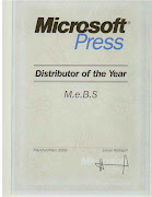 M.e.B.S. distributor of the year of Microsoft Press