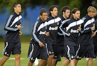Karim benzema raul ronaldo real madrid training