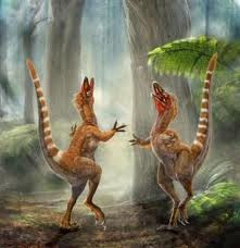 Rendition of Sinosauropteryx's