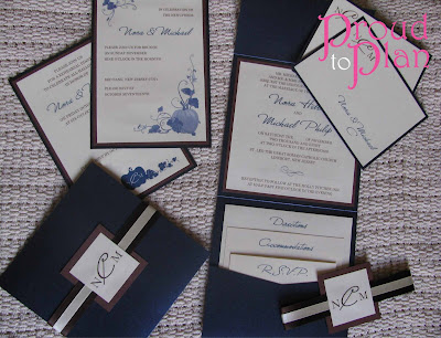 Michaels Wedding Programs on Stationery For Their Fall Wedding We Used A Mix Of Shimmery Sapphire