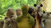 A Picture of the animals from the movie OVER THE HEDGE