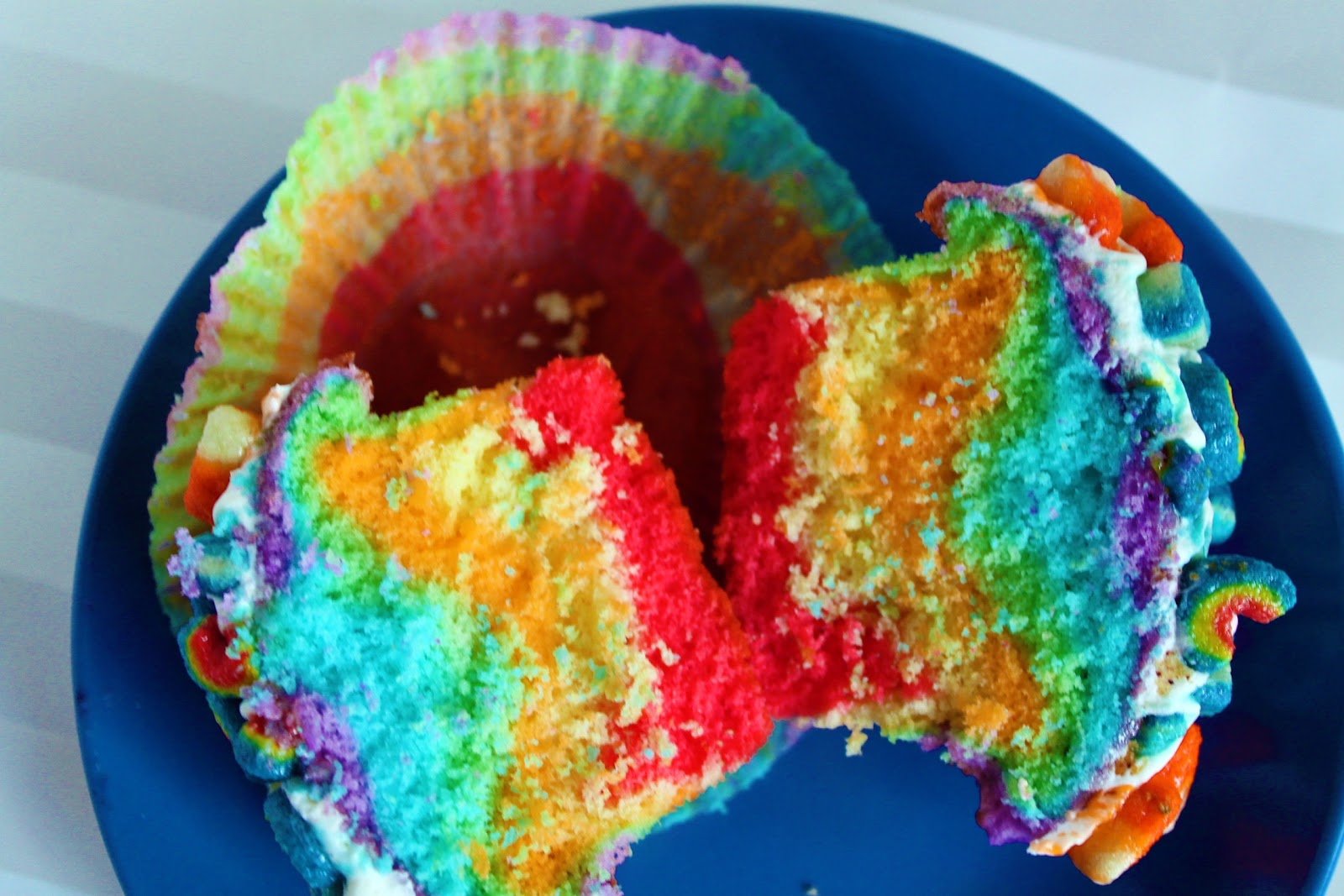 Lucky Charms- Double Rainbow Cupcakes