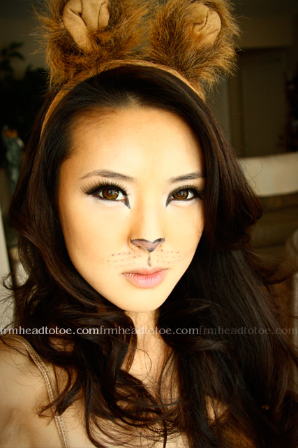 Lion Halloween Makeup Tutorial =^.^= - From Head To Toe