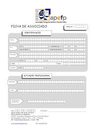 FICHA DE INSCRIÇÃO SÓCIO (solicite a ficha por mail)