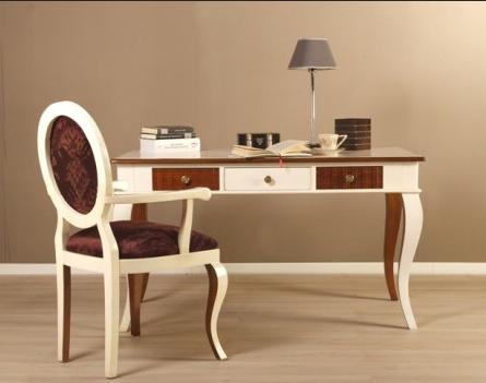 Decoraci n tendencias en estilo cl sico un escritorio for Escritorios para salon