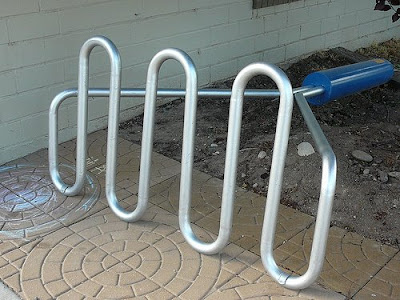 potato masher bike rack