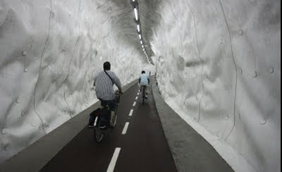 Bicycle Tunnel in San Sebastian