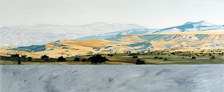 Painting, La Bajada Mesa, by David Outhwaite, © 1988