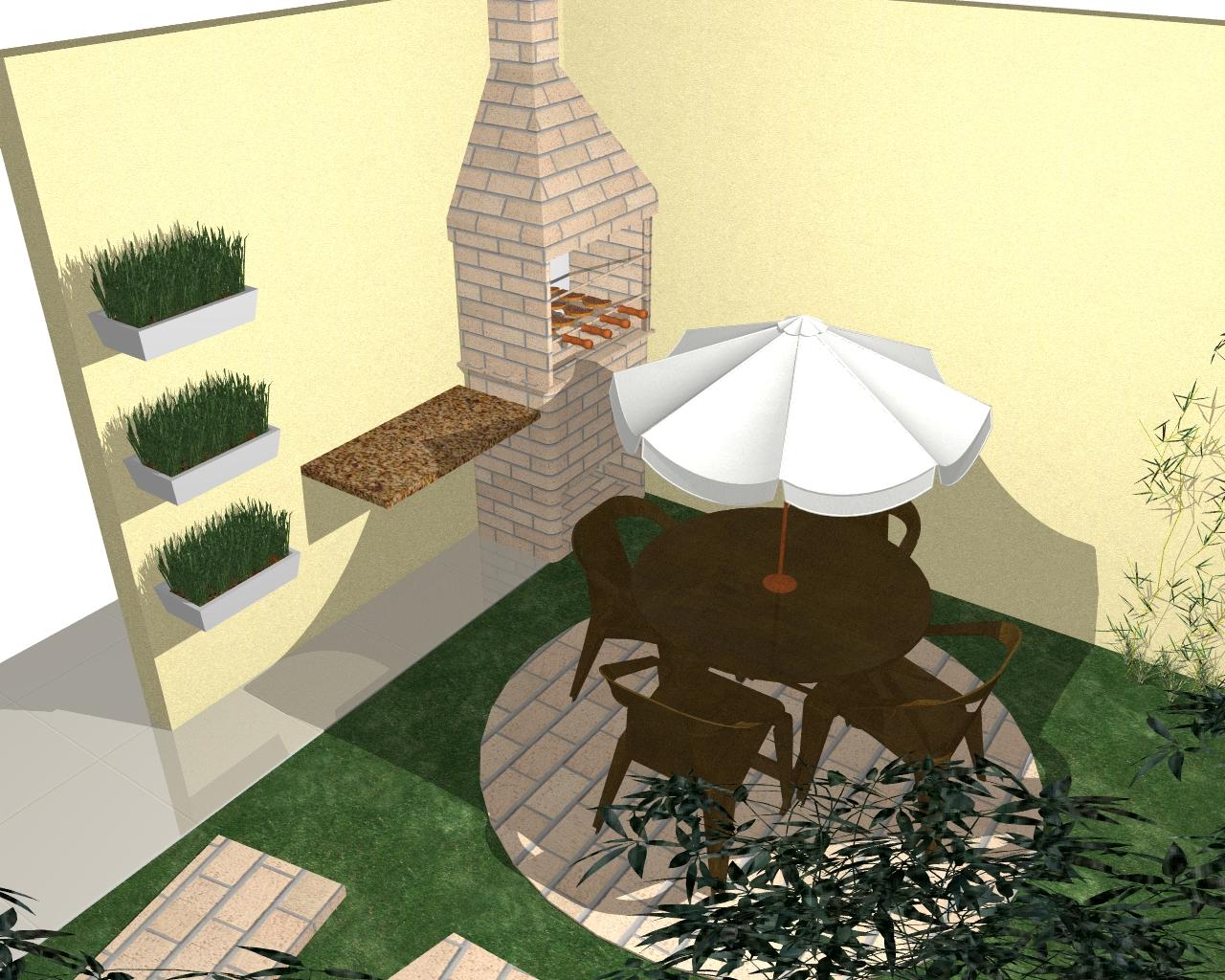 fotos jardins pequenos residenciais:Colado ao muro imaginei Orquidea Bambu, com canteiros de barba de