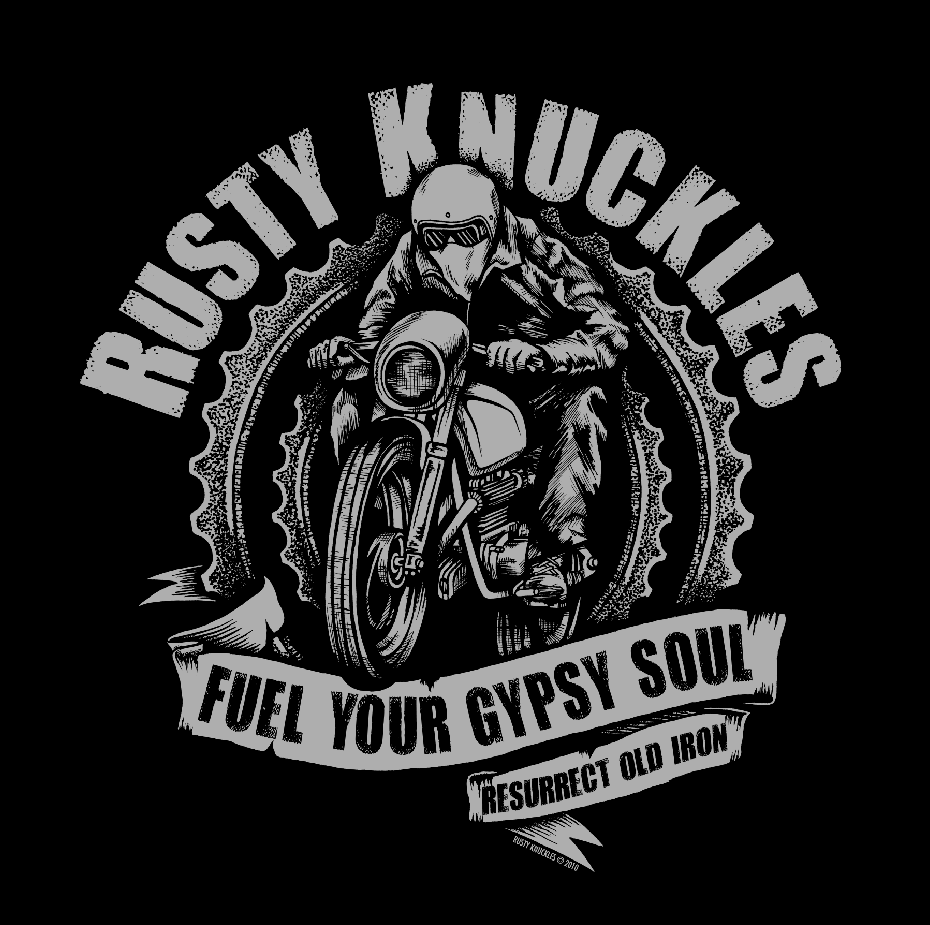 Sneak peak new shirts for cafe racer tv rusty knuckles for Custom car club shirts
