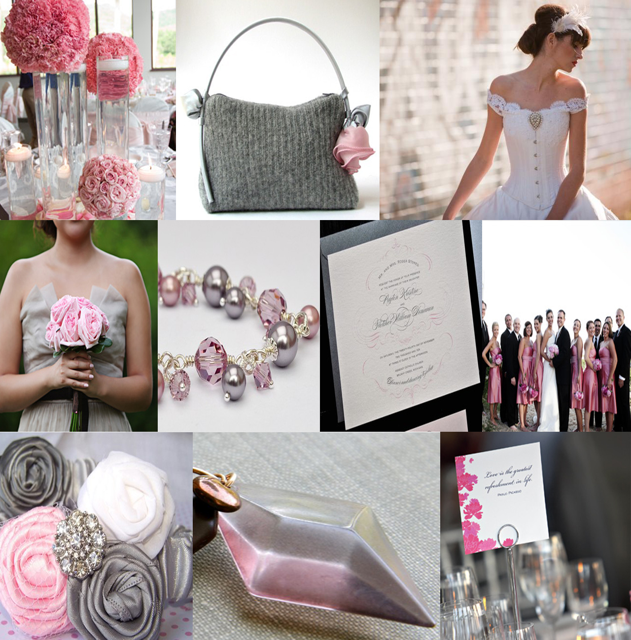 A July Bride: Wedding motif: Silver and Pink