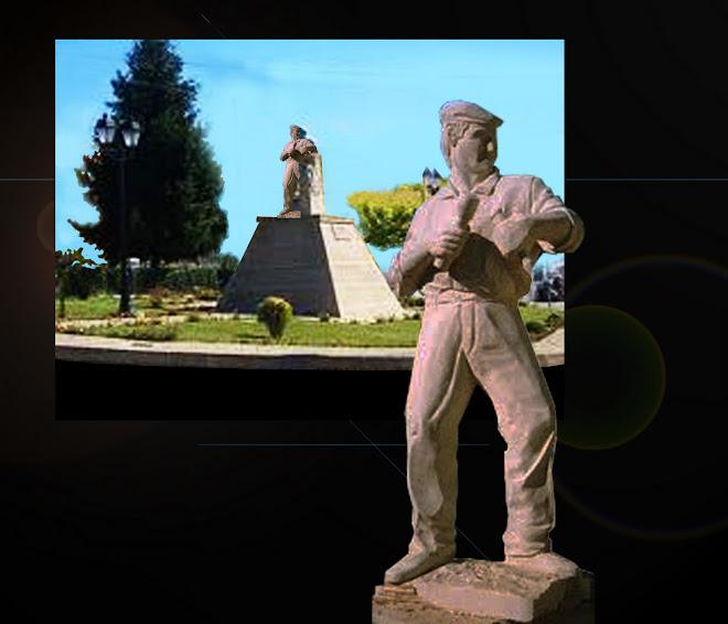 Escultura em granito de tamanho natural