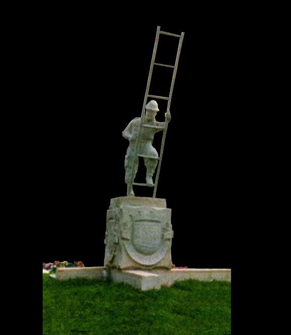 Escultura de granito  em peça únicacom tamanho natural