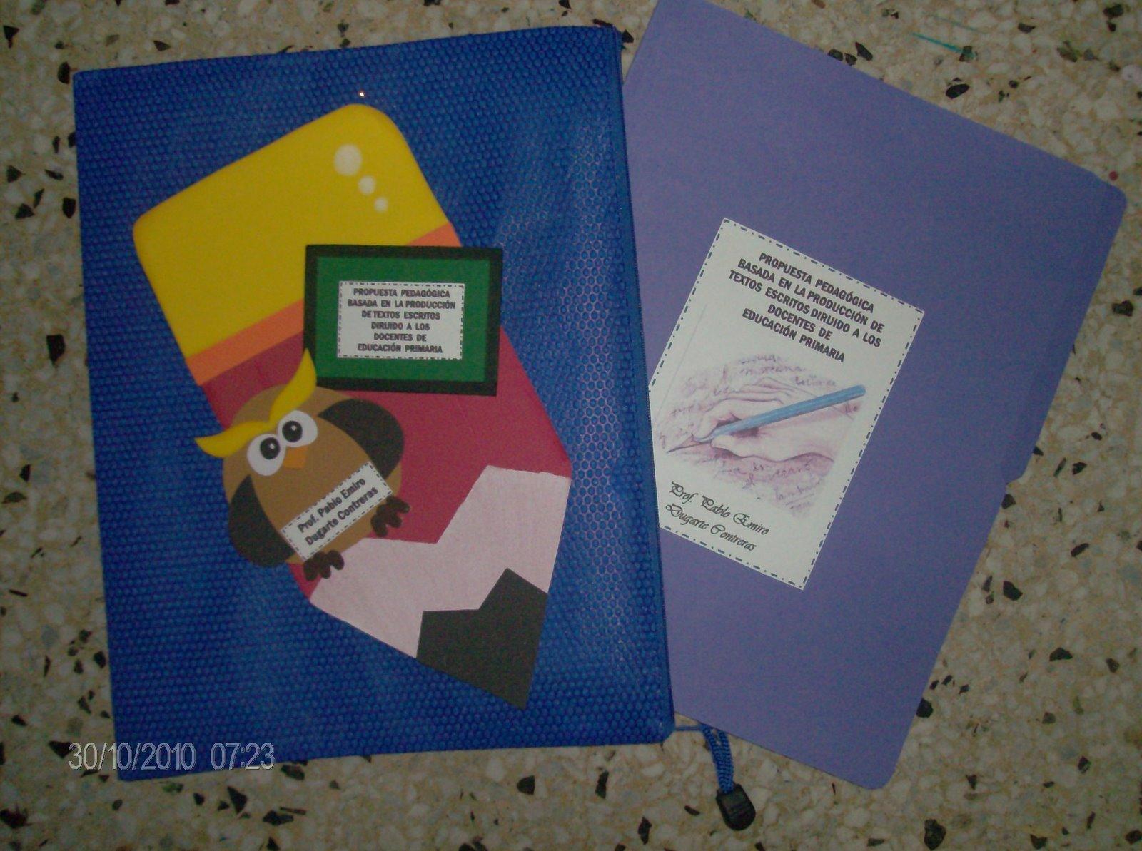 Carpeta para entrega de trabajos de investigación
