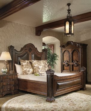 Fine furnishings and interior design casa bella bedroom for Old world style beds