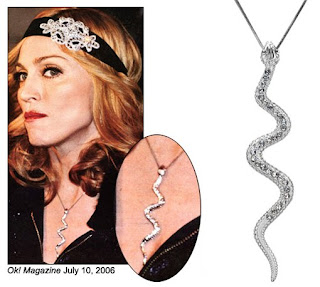 Madonna's serpent necklace