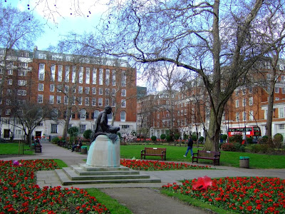 Ghandi watching over Tavistock Square