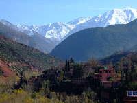 The High Atlas Mountains up the valley