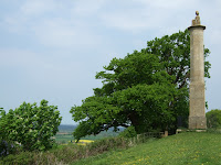 Maud's monument at the top of Wick hill