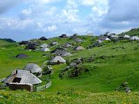 Herdsmens huts on the Velika Planina
