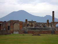 Vesuvius dominates the scene