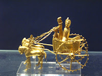 Golden chariot model from 300-500BC