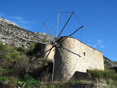 Traditional windmill Lasithiou Plateau