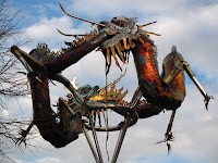 Chinese dragons in the Docklands
