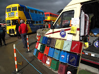 Vintage busses in Brough