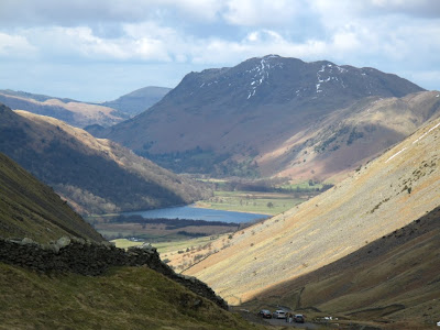 Kirkstone Pass between Ullswater and Windermere