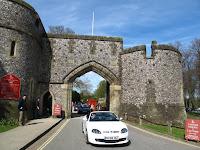 Leaving Arundel Castle