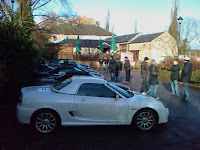 The MGs lined up at The Navigation Inn
