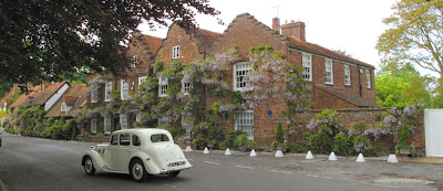 Checking out the wisteria in Denham