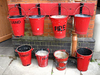 Some buckets have sand, one holds Fire??