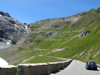 Laurence leads us up the Stelvio