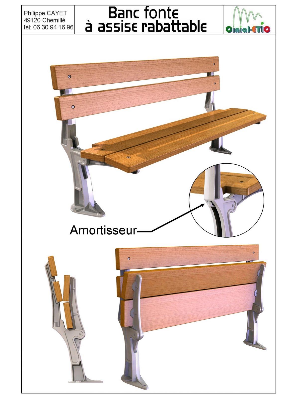 bancs fauteuils banc fonte assise repliable. Black Bedroom Furniture Sets. Home Design Ideas