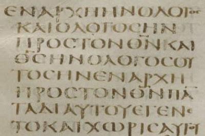 Codex   Sinaiticus João1:1-3