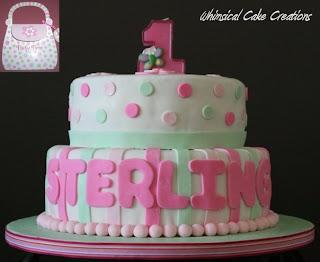 Birthday Cakes For Baby Girl ~ Whimsicalcreations.ca: baby girl 1st birthday cake