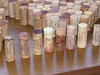 ワインのコルク 長いグループ
