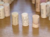 ワインのコルク 短いグループ